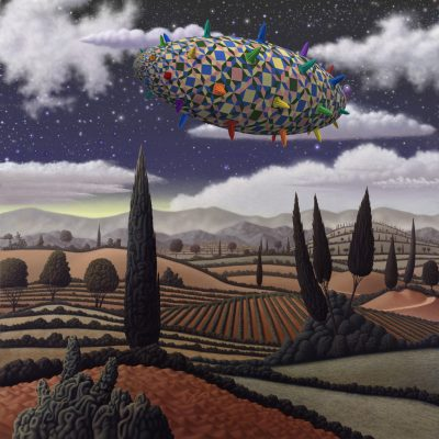 Paysage Metaxu drape etoiles nuages